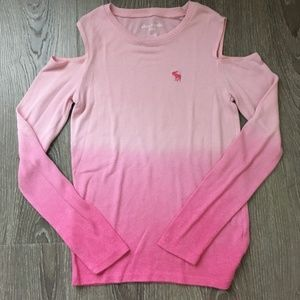 Fading Pink cold shoulder shirt